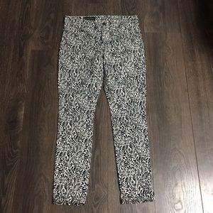 J. Crew Fern Print Midrise Toothpick Skinny Jeans